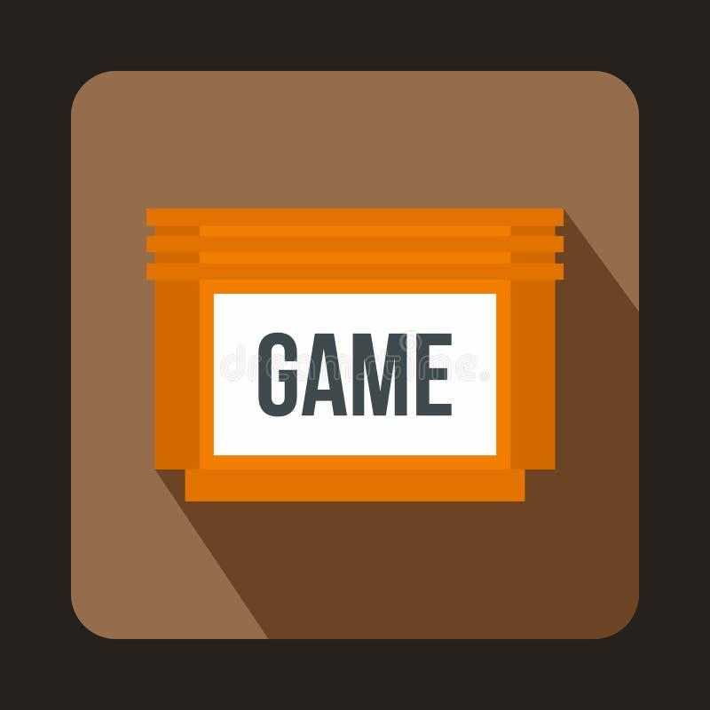 Ícone de disco flexível dos jogos, estilo liso ilustração stock