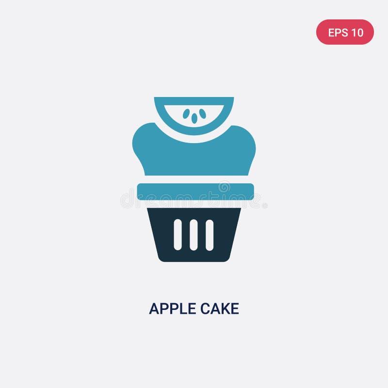 Ícone de duas cores do vetor do bolo de maçã do conceito da religião o símbolo azul isolado do sinal do vetor do bolo de maçã pod ilustração do vetor