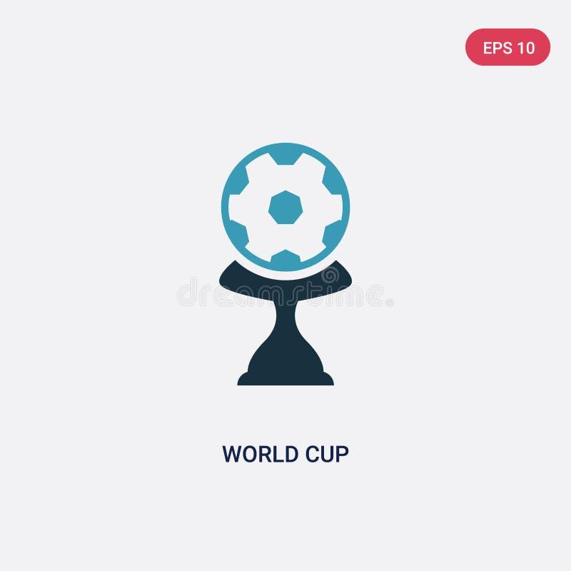 Ícone de duas cores do vetor do campeonato do mundo do conceito dos esportes o símbolo azul isolado do sinal do vetor do campeona ilustração do vetor