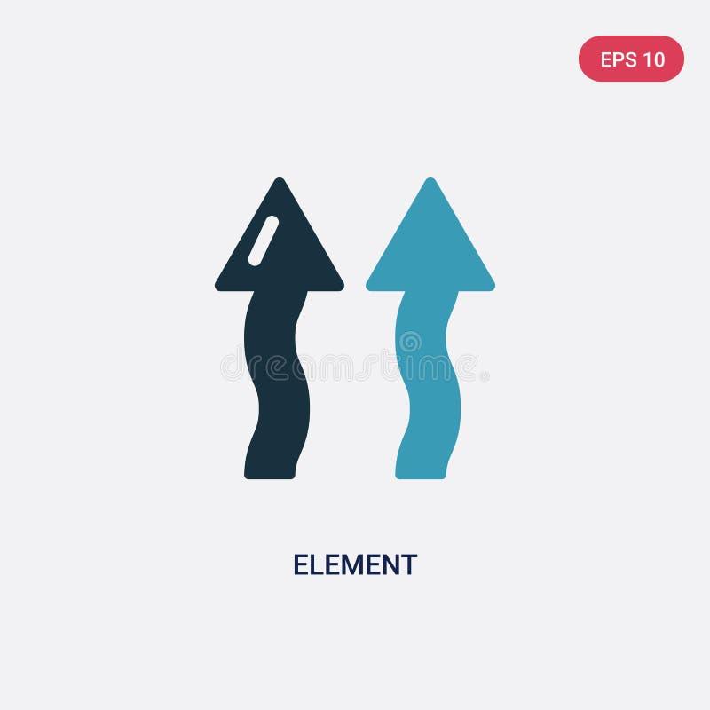 Ícone de duas cores do vetor do elemento do conceito da natureza o símbolo azul isolado do sinal do vetor do elemento pode ser us ilustração stock