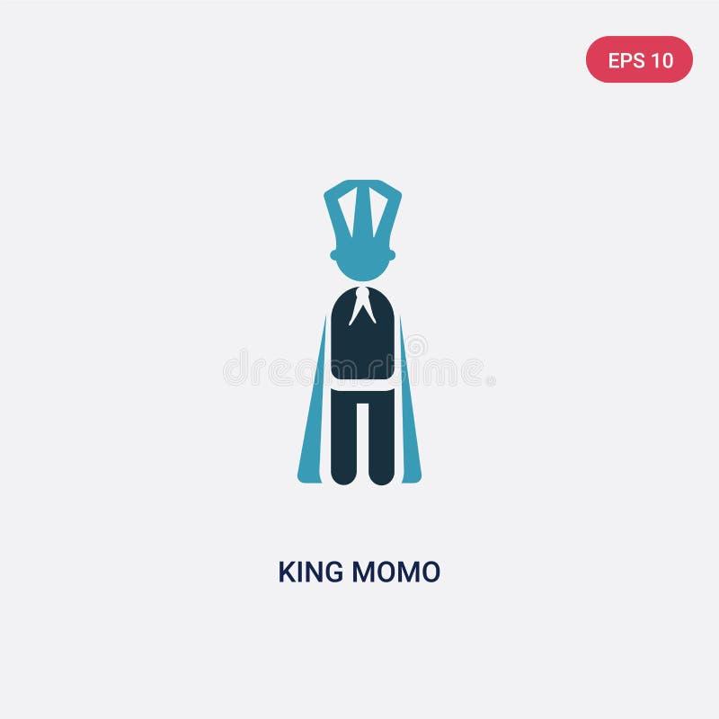 Ícone de duas cores do vetor do momo do rei do conceito dos povos o símbolo azul isolado do sinal do vetor do momo do rei pode se ilustração do vetor