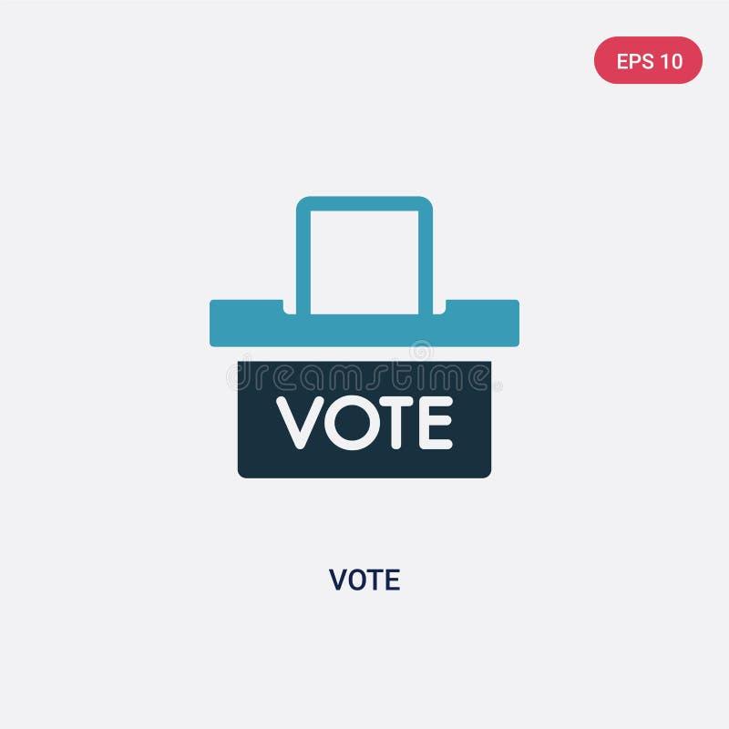 Ícone de duas cores do vetor do voto do conceito político o símbolo azul isolado do sinal do vetor do voto pode ser uso para a We ilustração do vetor