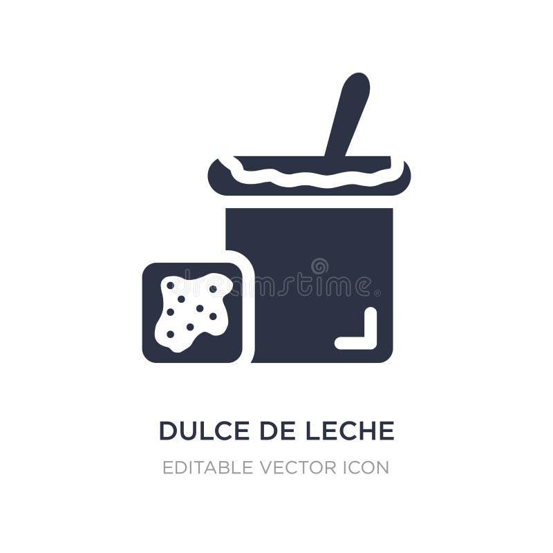 ícone de dulce de leche no fundo branco Ilustração simples do elemento do alimento e do conceito do restaurante ilustração do vetor