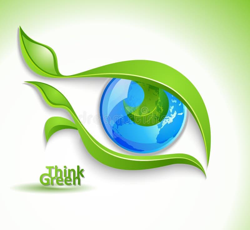 Ícone de Eco ilustração stock