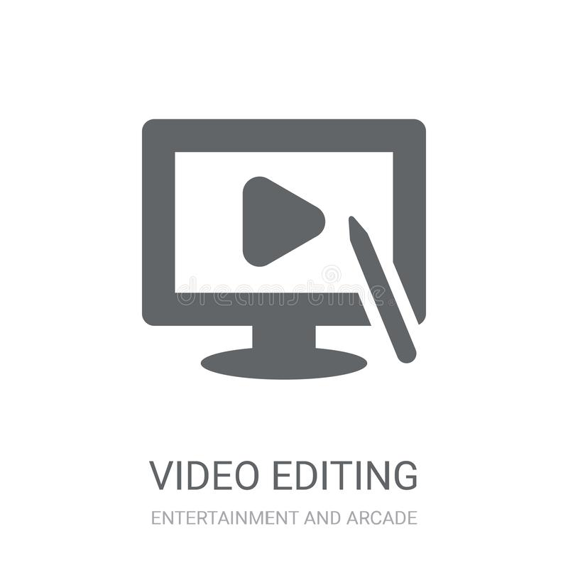 Ícone de edição video  ilustração do vetor
