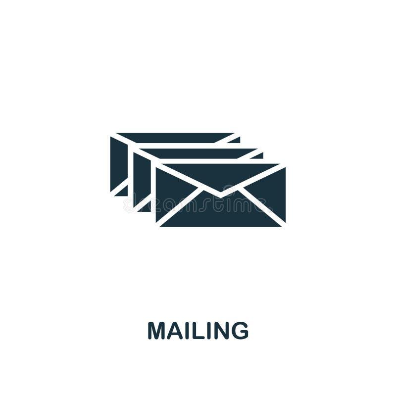 Ícone de envio pelo correio Projeto superior do estilo de anunciar a coleção do ícone UI e UX Ícone de envio pelo correio perfeit ilustração stock