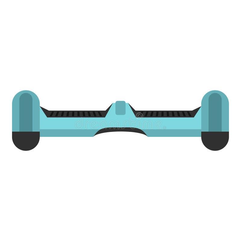Ícone de equilíbrio do skate do auto azul da roda dupla ilustração royalty free