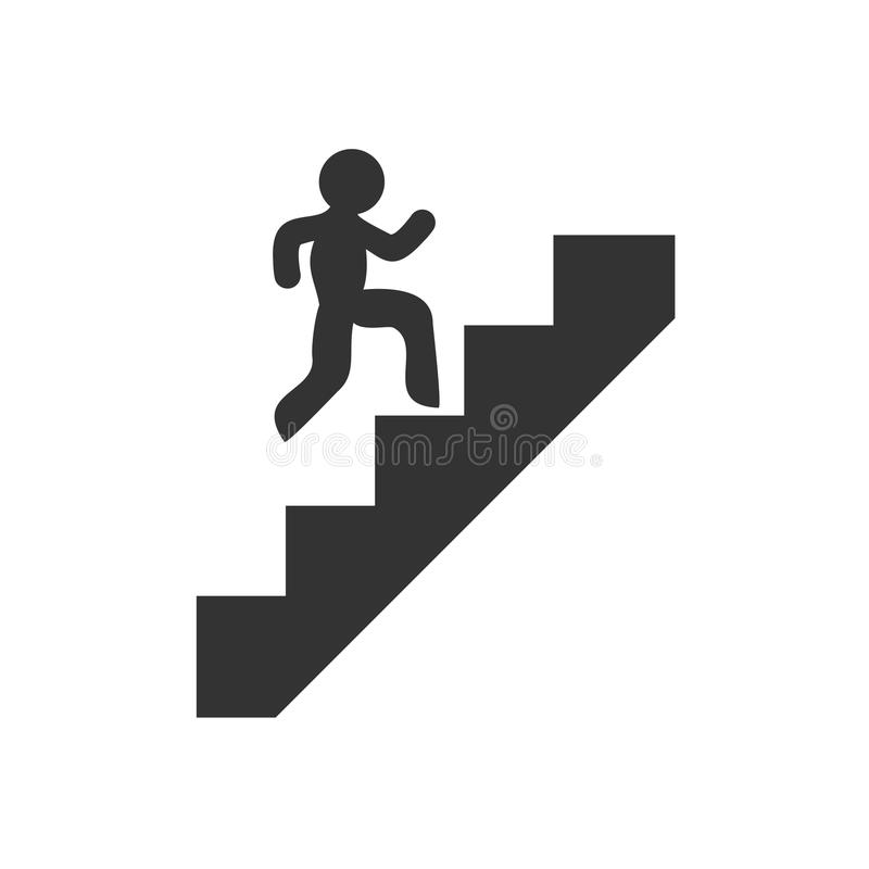 Ícone de escalada das escadas ilustração royalty free