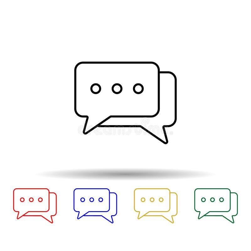 ícone de estilo multicor de bolhas de correspondência Simples linha fina, vetor de contorno de ícones da Web para ui e ux, site o ilustração do vetor