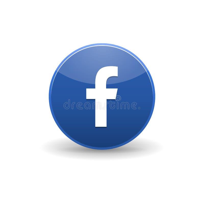 Ícone de Facebook, estilo simples ilustração stock