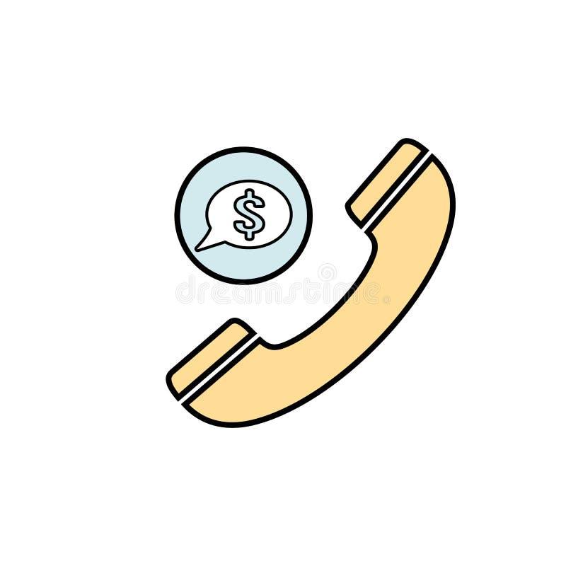 Ícone de fala do telefone da bolha do discurso do telefone da finança de uma comunicação da bolha do bate-papo ilustração stock