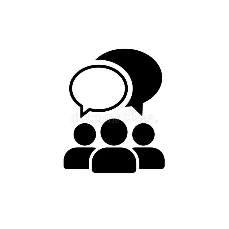 Ícone de fala dos povos Um de ícones ajustados do vetor da Web ilustração royalty free