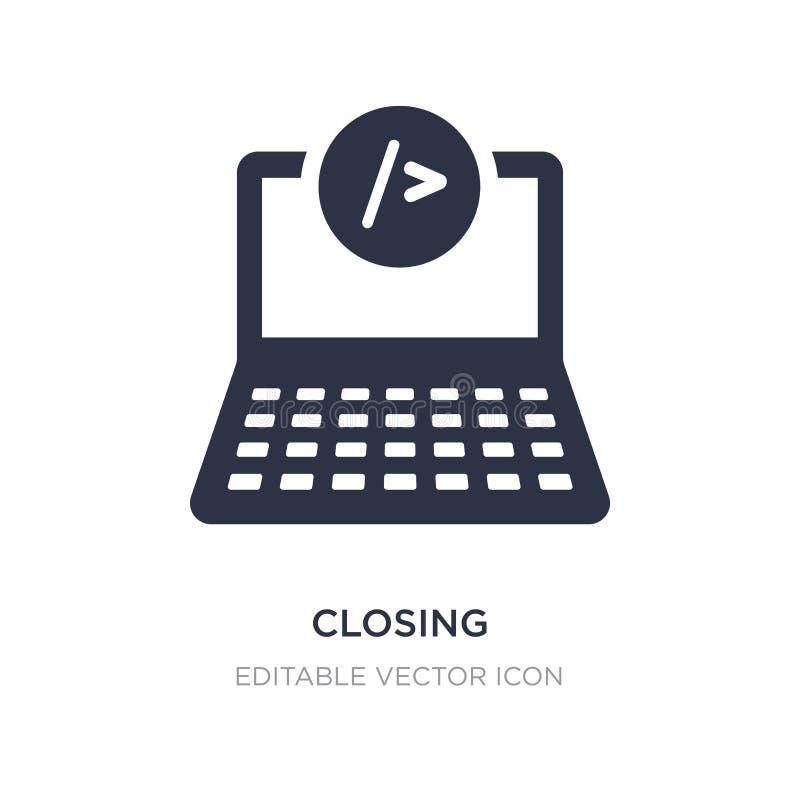 ícone de fechamento no fundo branco Ilustração simples do elemento do conceito da Web ilustração do vetor