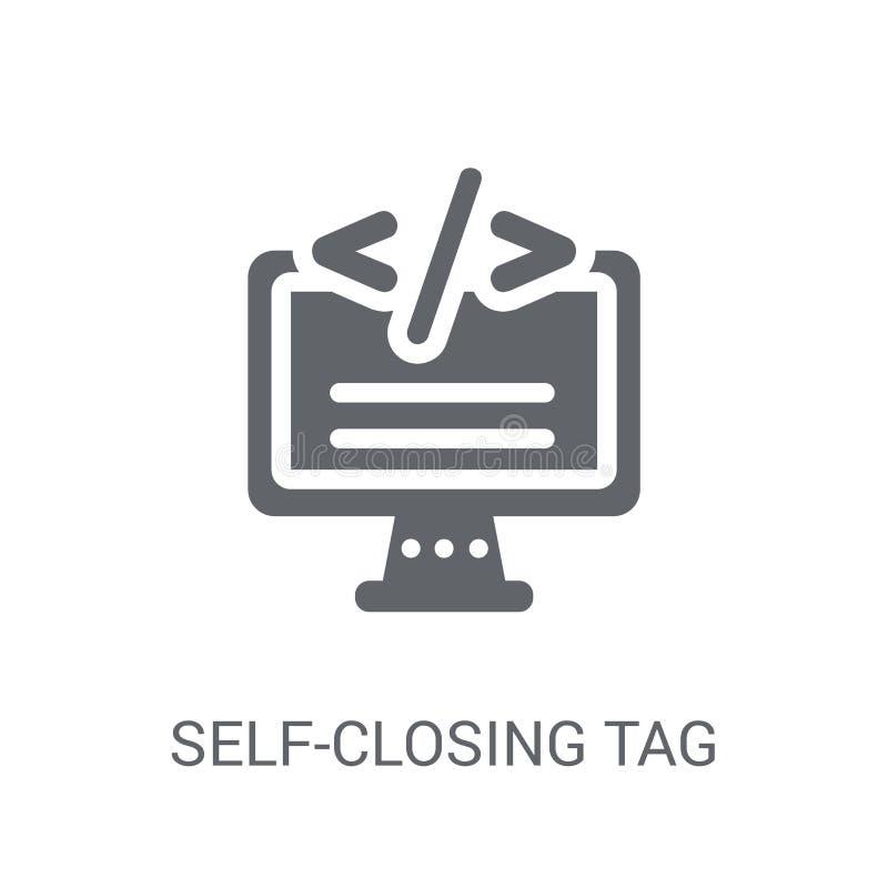 Ícone de fecho automático da etiqueta  ilustração do vetor
