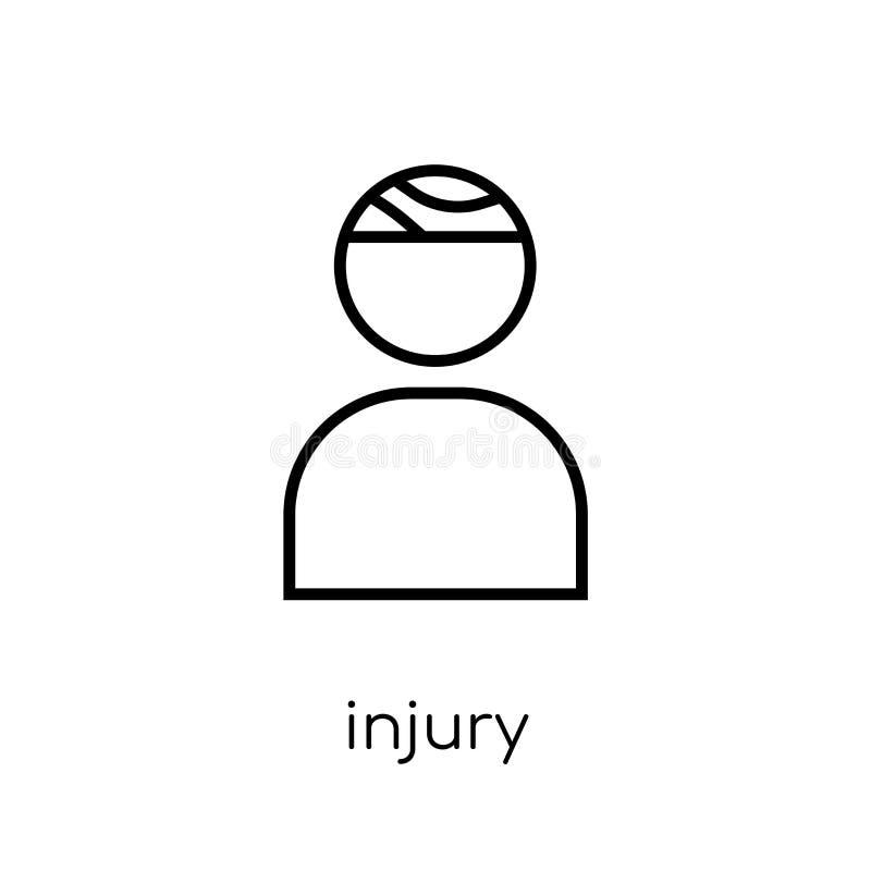 Ícone de ferimento Ícone linear liso moderno na moda de ferimento do vetor no whi ilustração royalty free