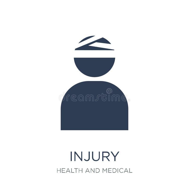 Ícone de ferimento Ícone liso na moda de ferimento do vetor no fundo branco ilustração stock