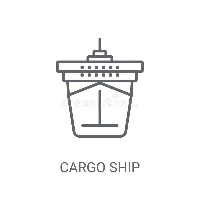 Ícone de Front View do navio de carga Logotipo na moda co de Front View do navio de carga ilustração do vetor