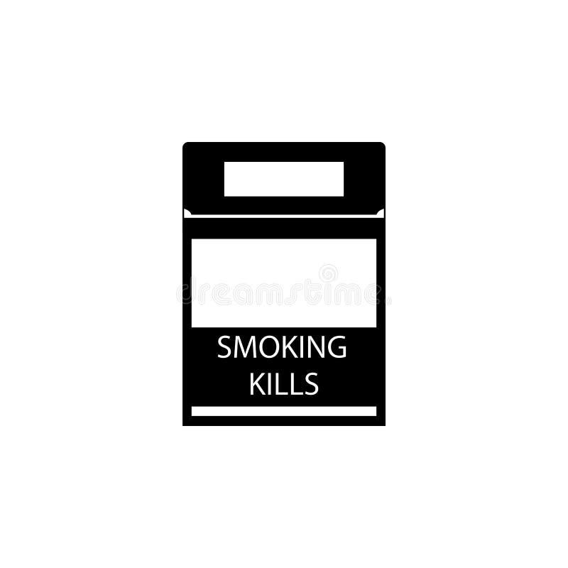 Ícone de fumo Elementos do hábito mau para apps móveis do conceito e da Web Ícone para o projeto do Web site e o desenvolvimento, ilustração do vetor