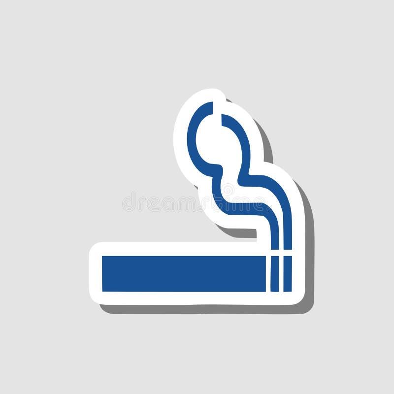 Ícone de fumo, sinal, ilustração 3D ilustração stock