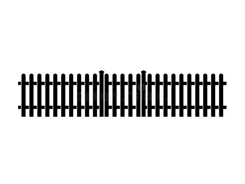Ícone de With Gate da cerca de piquete ilustração royalty free