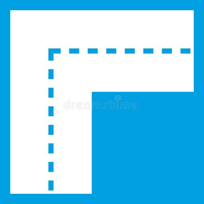 Ícone de giro da estrada branco ilustração royalty free