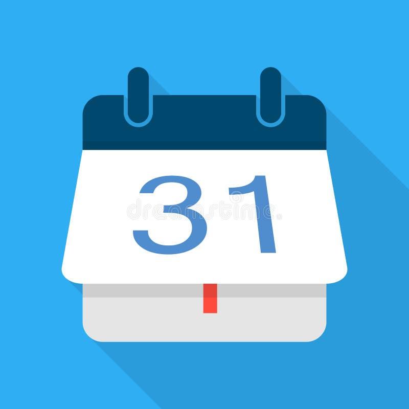 Ícone de giro do calendário, estilo liso ilustração do vetor