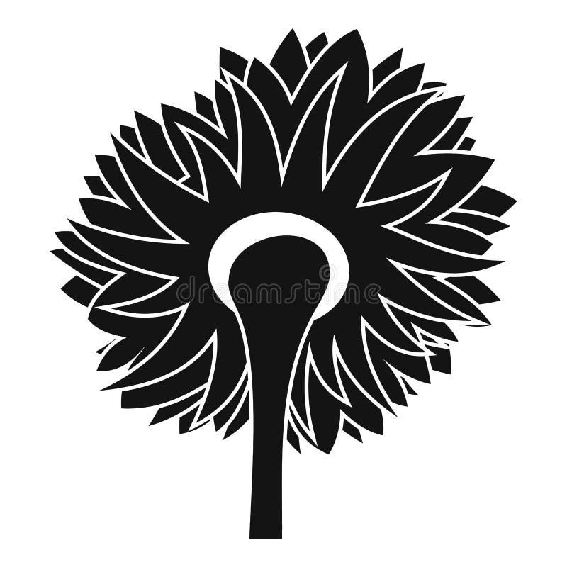 Ícone de giro do girassol, estilo simples ilustração royalty free