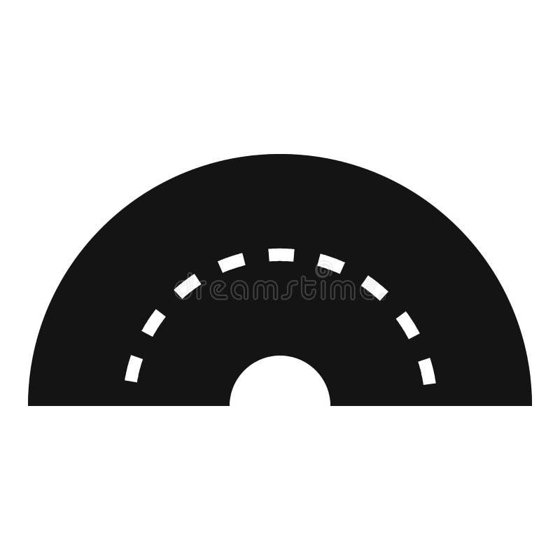 Ícone de giro redondo da estrada, estilo simples ilustração royalty free
