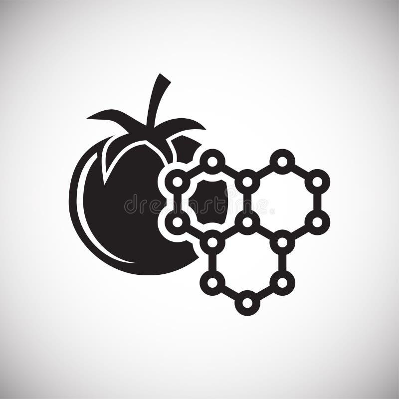 Ícone de GMO no fundo para o gráfico e o design web Sinal simples do vetor Símbolo do conceito do Internet para o botão do Web si ilustração royalty free