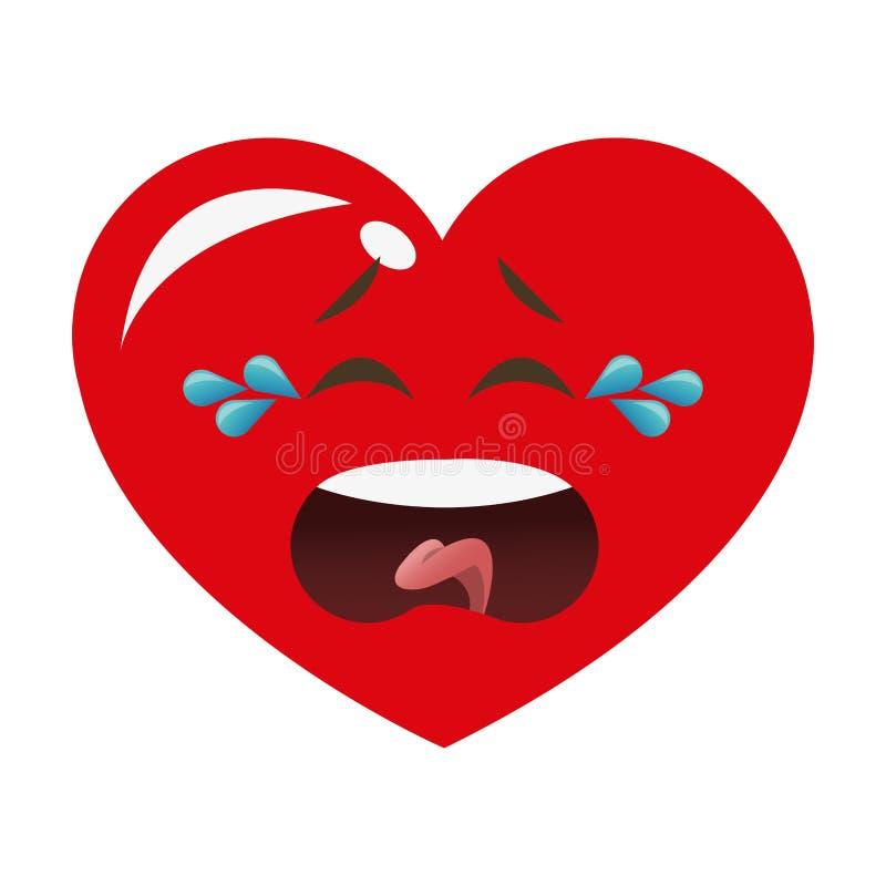 ícone de grito dos desenhos animados do coração ilustração stock