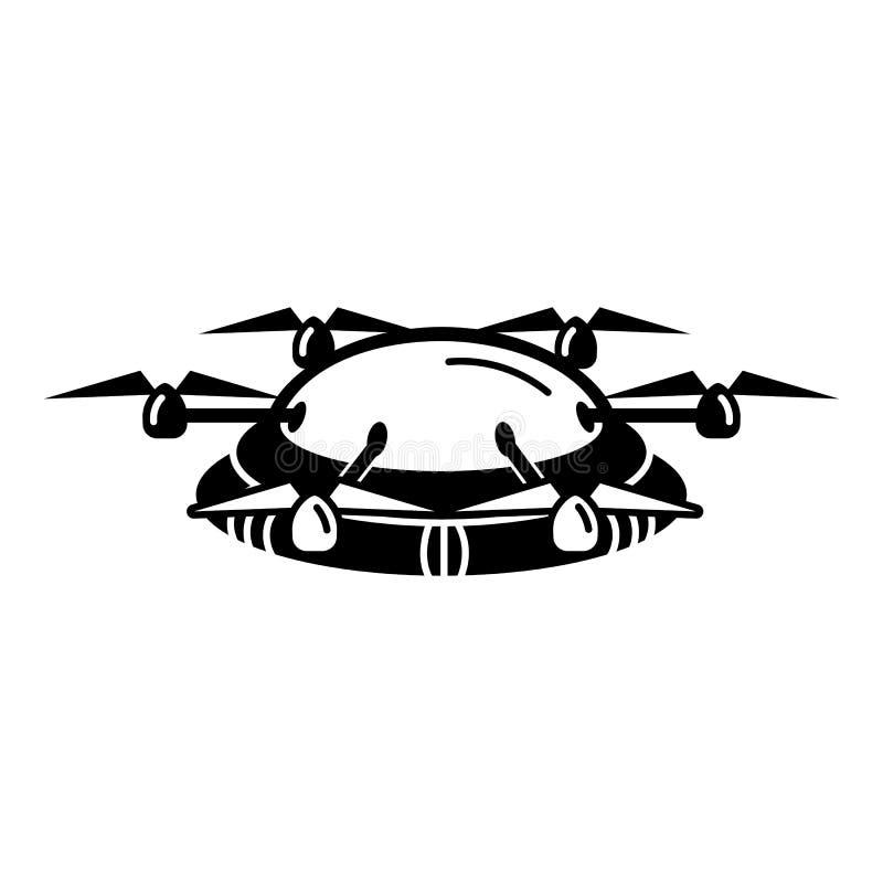 Ícone de Hexacopter, estilo simples ilustração stock
