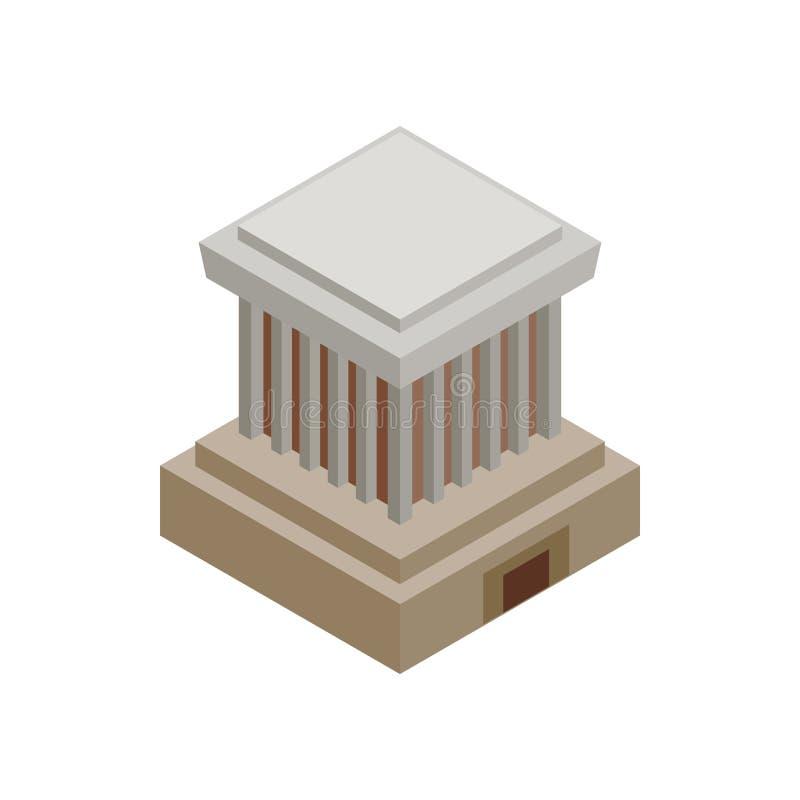 Ícone de Ho Chi Minh Mausoleum, estilo 3d isométrico ilustração stock