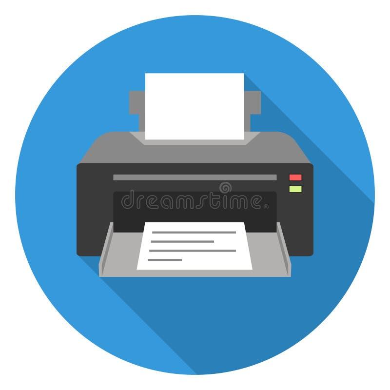 Ícone de impressora ilustração royalty free