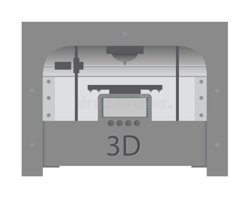 ícone de impressora 3D ilustração royalty free