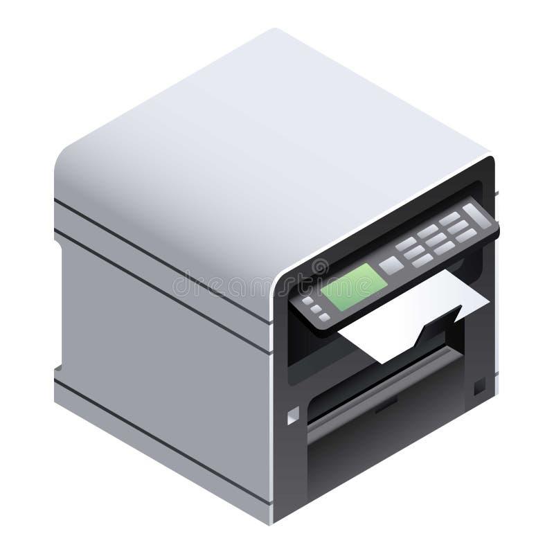 Ícone de impressora do escritório, estilo isométrico ilustração stock