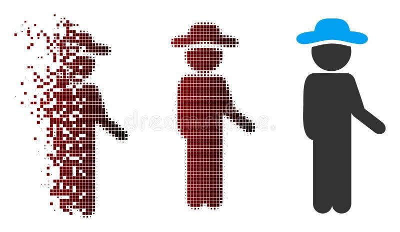 Ícone de intervalo mínimo do tensor do cavalheiro do pixel quebrado ilustração royalty free
