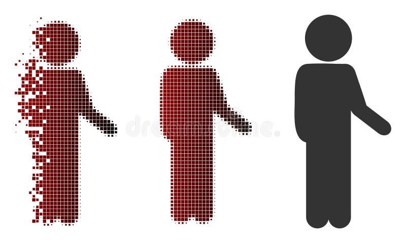Ícone de intervalo mínimo do tensor da criança do pixel da poeira ilustração do vetor
