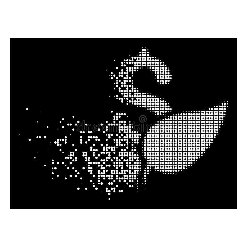 Ícone de intervalo mínimo pontilhado de desaparecimento brilhante da partida da agricultura ilustração royalty free
