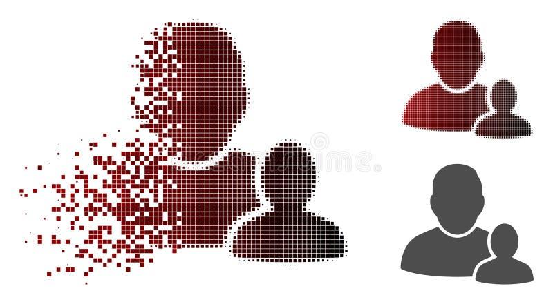 Ícone de intervalo mínimo pontilhado dissolvido do pai da criança ilustração do vetor