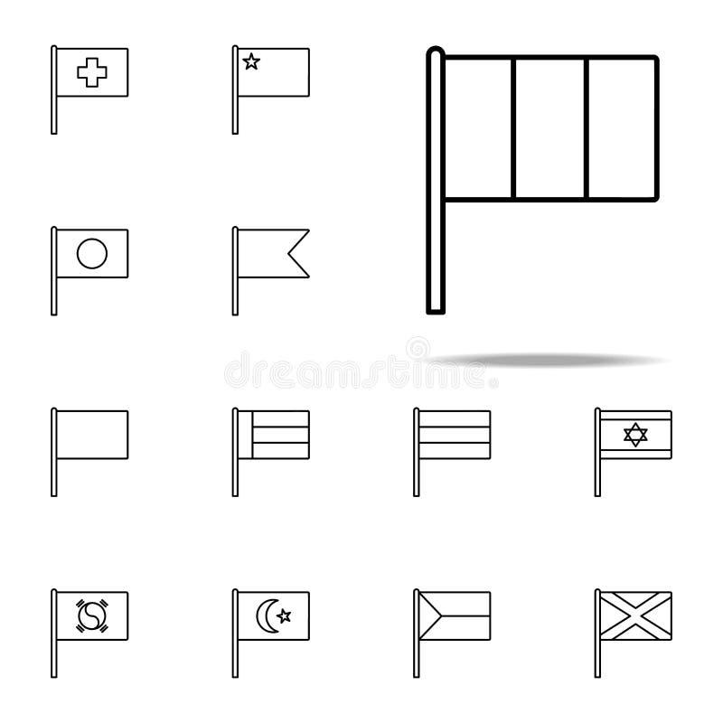 Ícone de Itália grupo universal dos ícones das bandeiras para a Web e o móbil ilustração royalty free