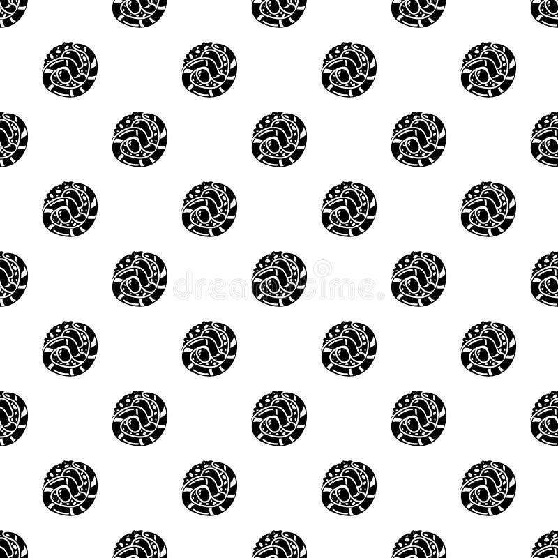 Ícone de japão do sushi, estilo preto simples ilustração do vetor