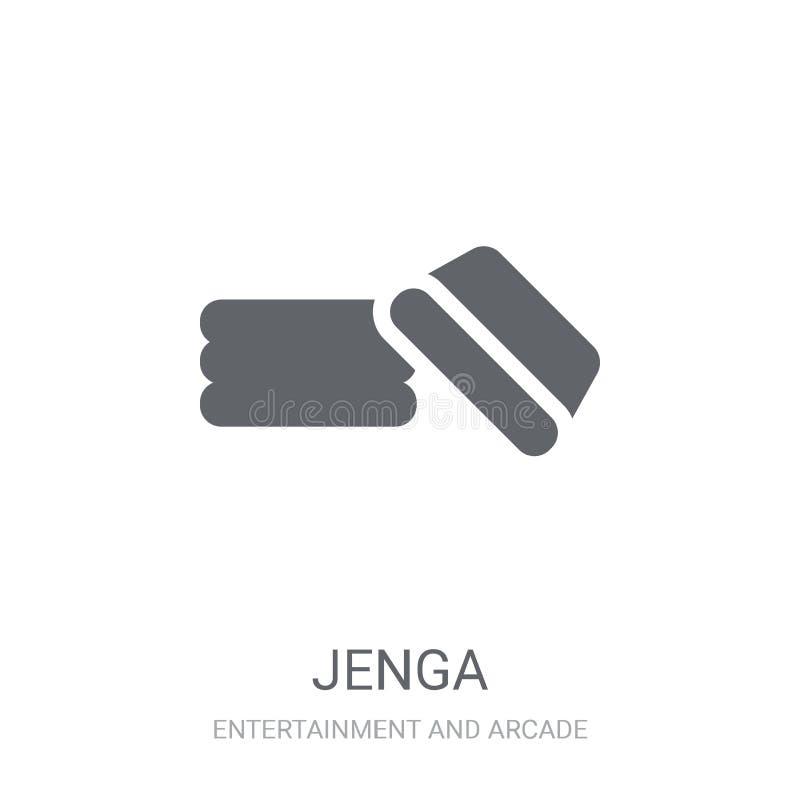 Ícone de Jenga  ilustração stock
