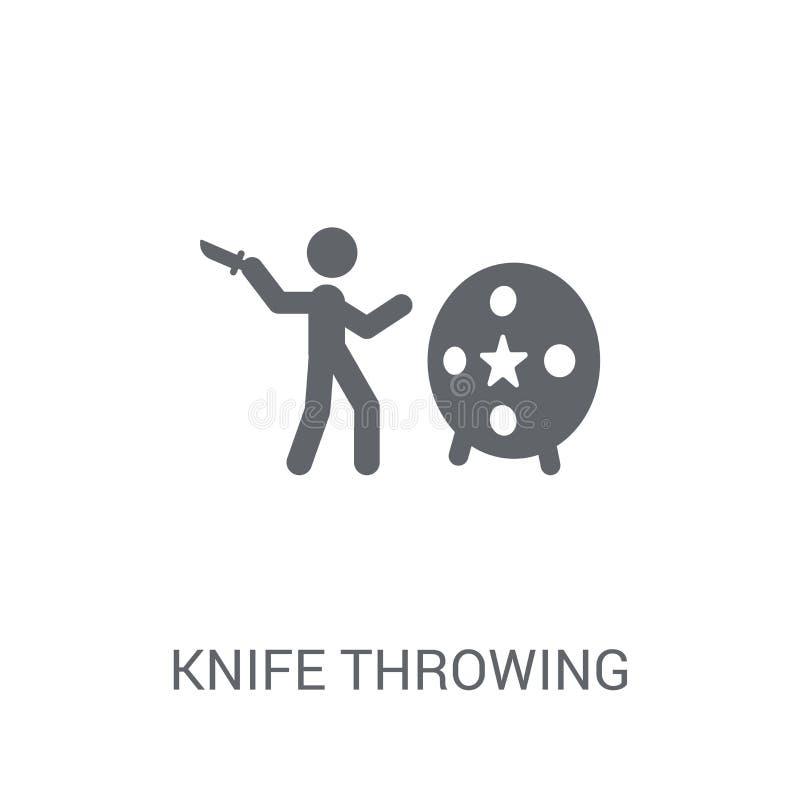 Ícone de jogo da faca  ilustração do vetor