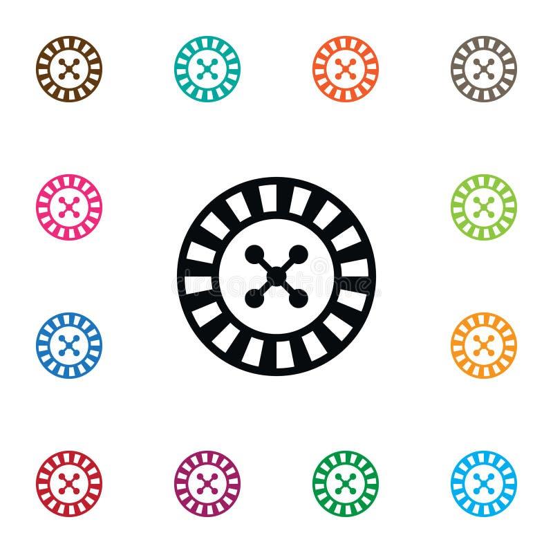 Ícone de jogo isolado Lucky Vetora Element Can Be usou-se jogando, afortunado, conceito de projeto da roleta ilustração stock