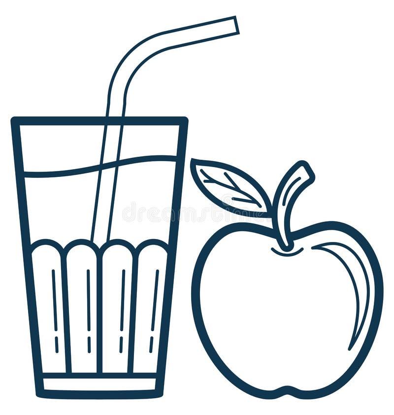 Ícone de Juice Cup Line Vetora Isolated personalizado e editável ilustração do vetor