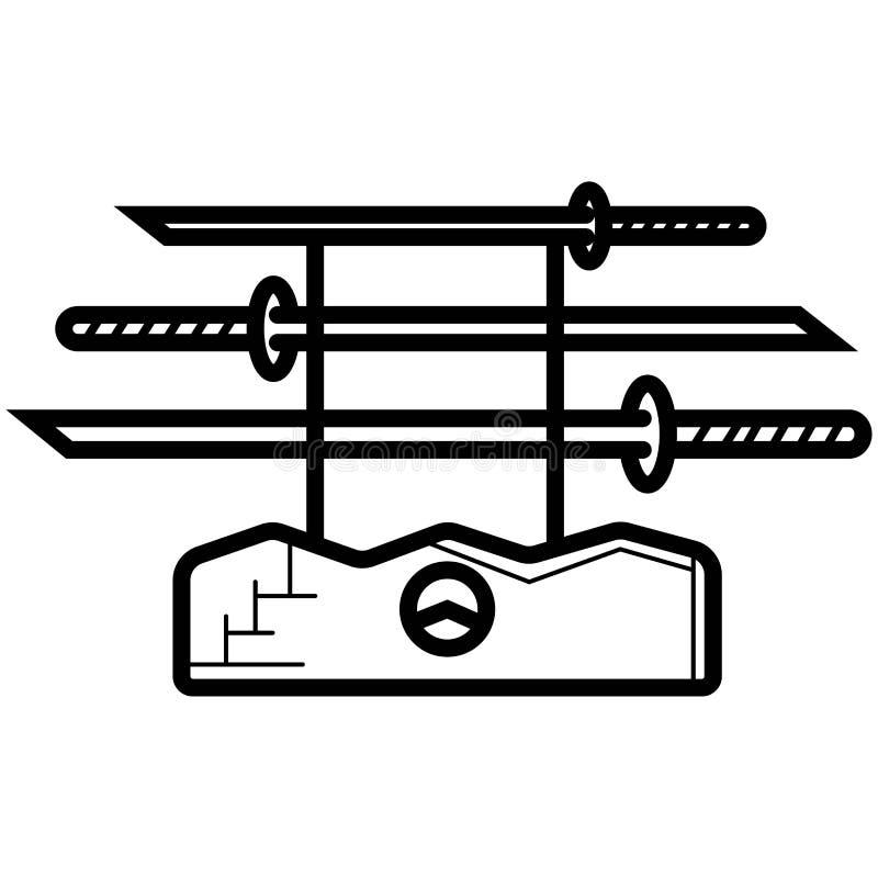 Ícone de Katana ilustração royalty free