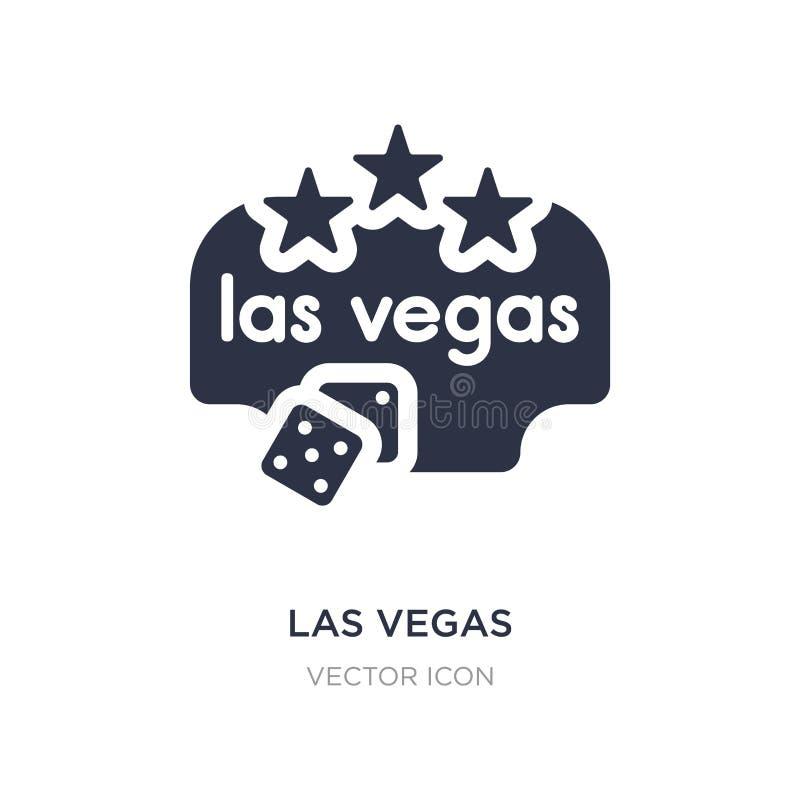 ícone de Las Vegas no fundo branco Ilustração simples do elemento do conceito dos mapas e das bandeiras ilustração stock