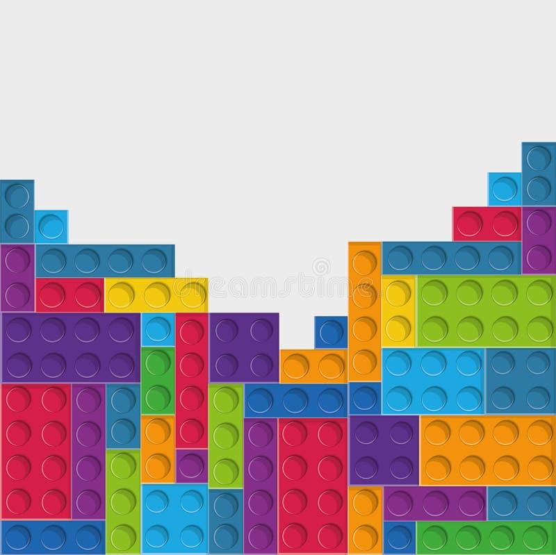 Ícone de Lego Figura abstrata Gráfico de vetor ilustração stock