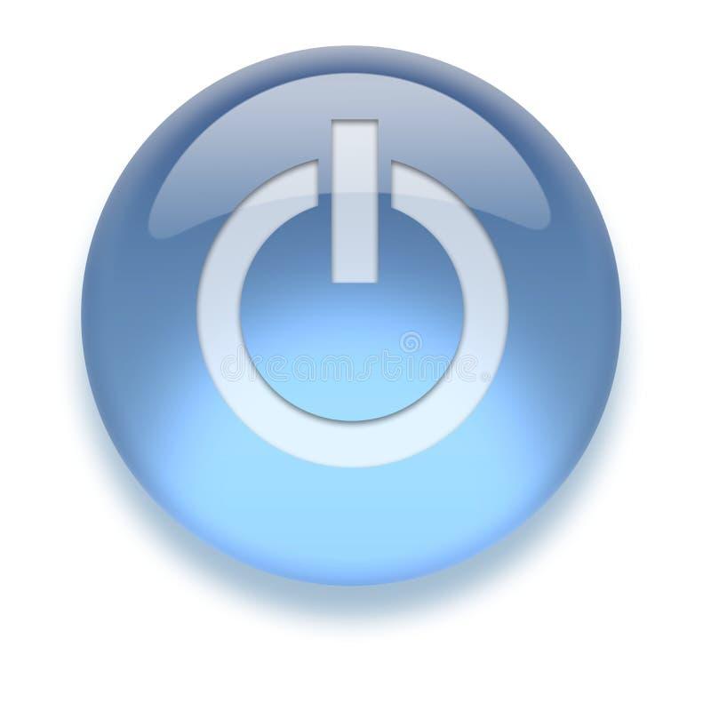Ícone de ligar/desligar do Aqua ilustração do vetor