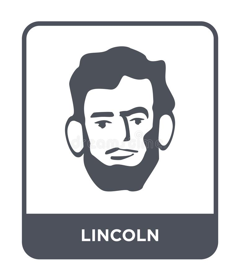 ícone de lincoln no estilo na moda do projeto ícone de lincoln isolado no fundo branco símbolo liso simples e moderno do ícone do ilustração do vetor